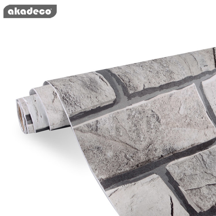 akadeco self-adhesive brick wallpaper for wall for furniture top mural all color backsplash brick