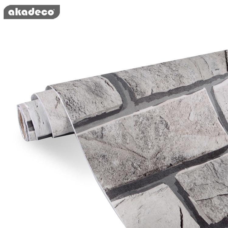 akadeco self-adhesive brick wallpaper for wall for furniture top mural all color backsplash brick
