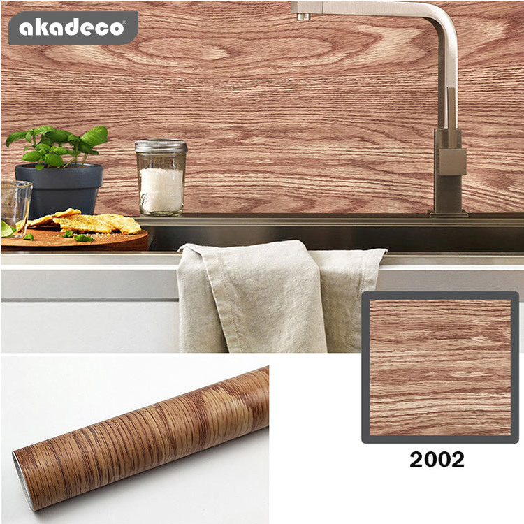 wooden contact paper  water-proof PVC wallpaper for wall decor furniture decor 2002
