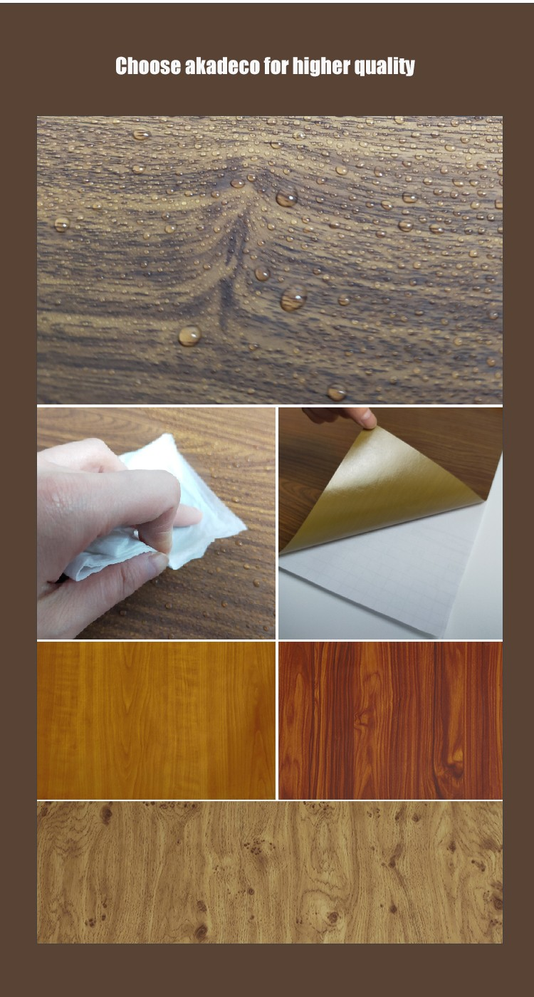 SUNYE best price contact paper wood grain best manufacturer for dining room-3