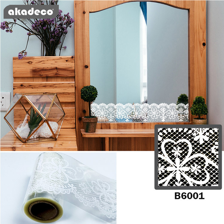border stickers transparent color white pattern BOPP material nonopaque B6001