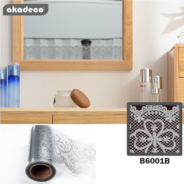 border stickers gray color  for glass décor moisture proof mildew proof B6001B