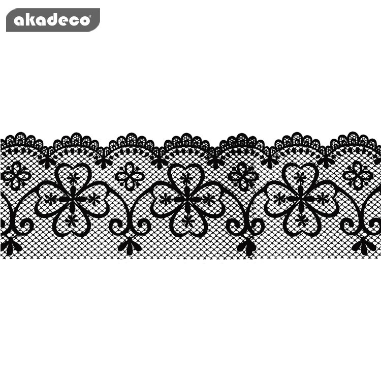 akadeco border self adhesive film black color water proof beautiful glass décor B6001C