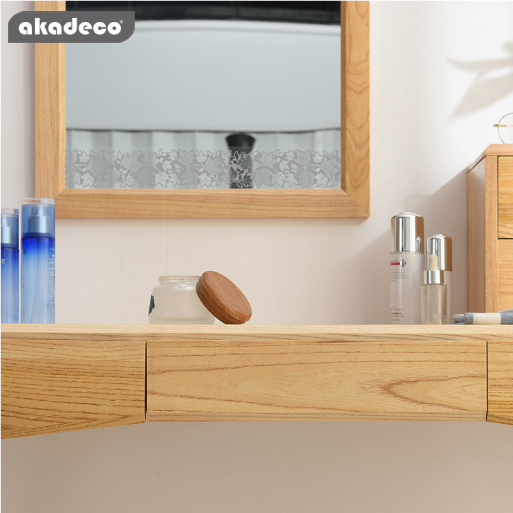 akadeco border stickers for mirrors classic maple leaf transparent color for mirrors B6002B