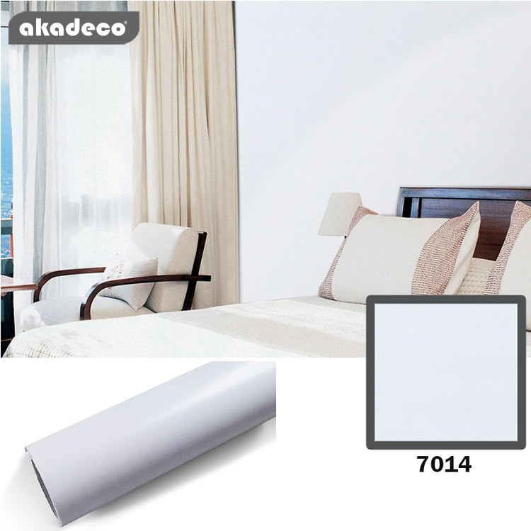 PVC wall stick white color water proof oil proof for furniture decoration wall decoration 7014