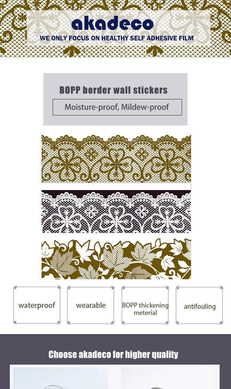 SUNYE worldwide sticker border from China for living room