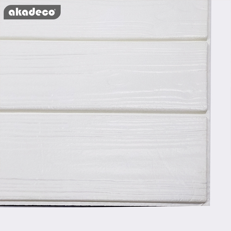 akadeco XPE 3D wall stick gray & white color anti-collision anti-noise suitable for children room decoration