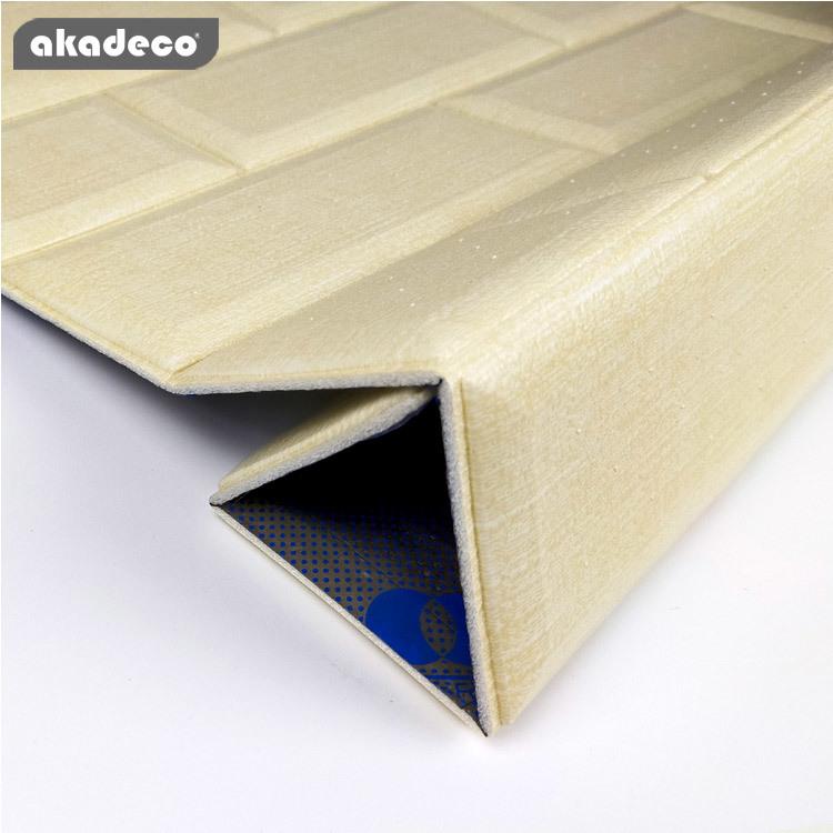 3D wallpaper XPE material khaki color anti-oil water-proof 4FT1012