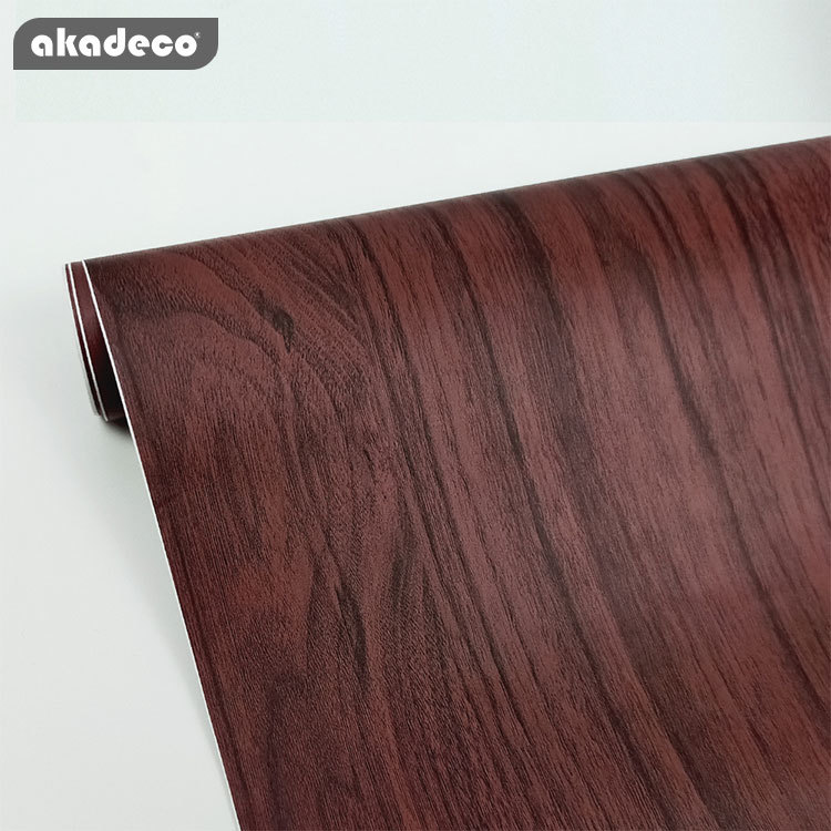 PVC wooden wallpaper for wall furniture hot selling anti-scrap 2034