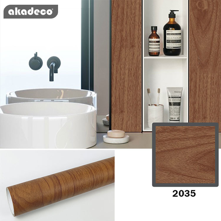 akadeco wooden wallpaper table PVC self adhesive film