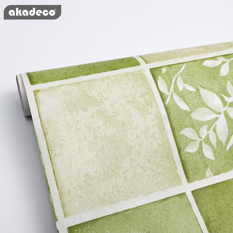 akadeco printed wallpaper for walls beautiful green color rewable your home