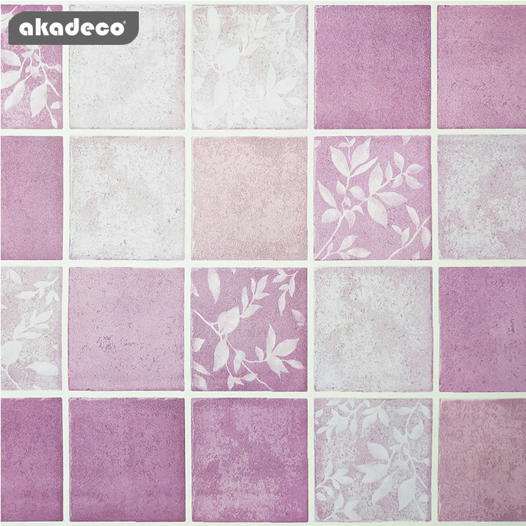 printed flower wallpaper popular style cute pink color moisture-proof décor the wall
