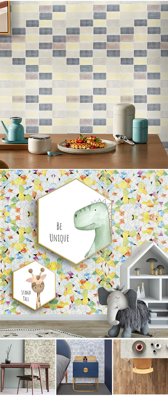 SUNYE PVC PRINTED SERIES ADHESIVE FILM manufacturer for living room-6