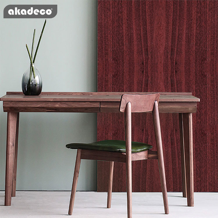 akadeco wooden sticker paper table PVC self adhesive film moisture-proof