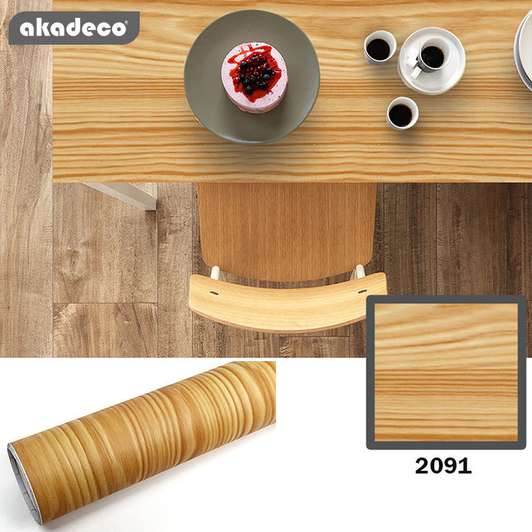 akadeco wooden stickerfor tablepeel and stick easy to use nature wood pattern