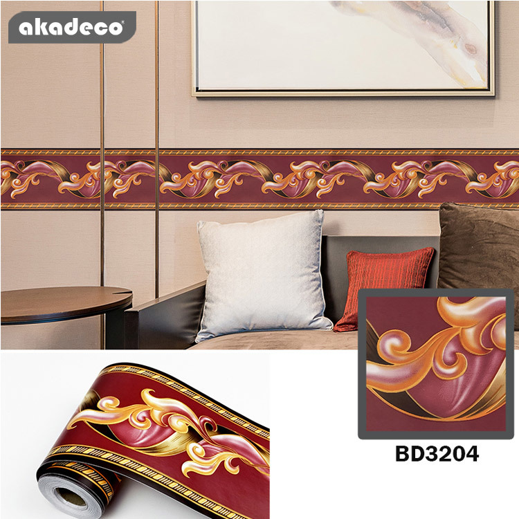 border stickers for wall décor moisture proof mildew proof BD3024