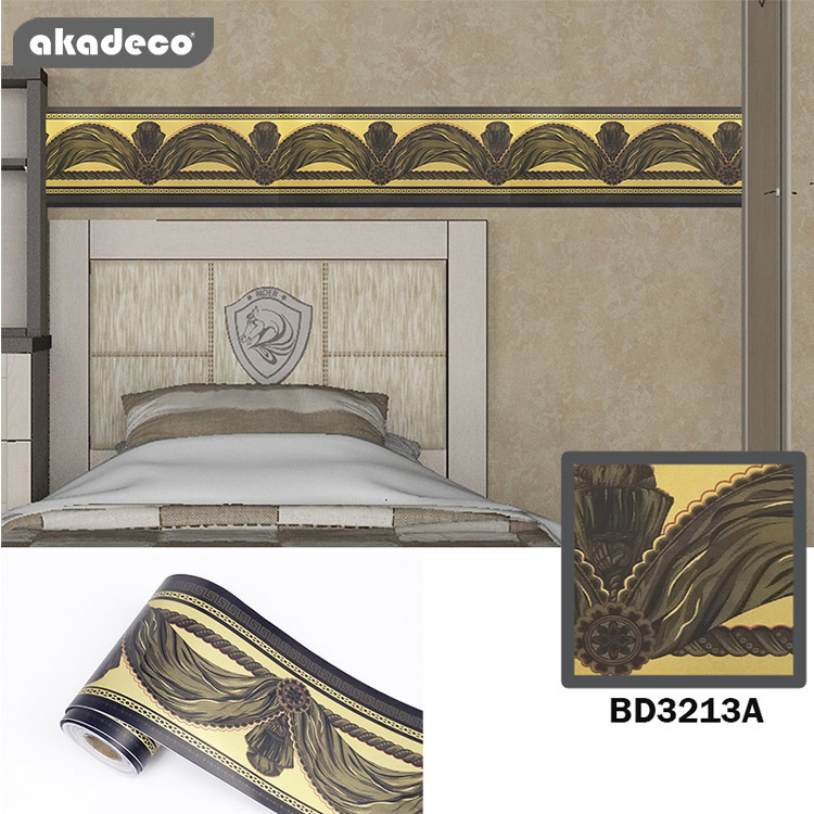 akadeco border stickers for walls  water proof beautiful glass décor BD3213A