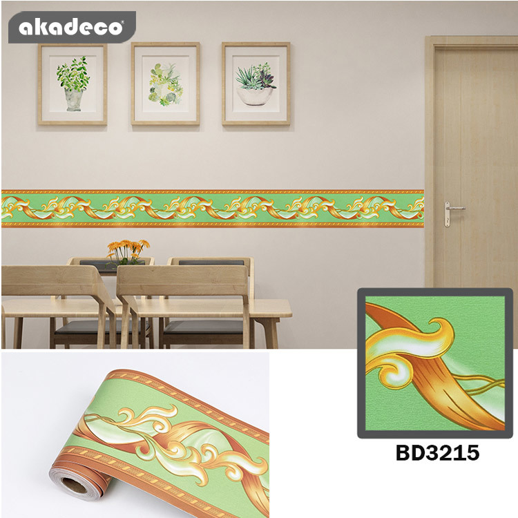 PVC border stickertiles just peel and stick classic maple leaf pattern 10cm*10m*0.08mm