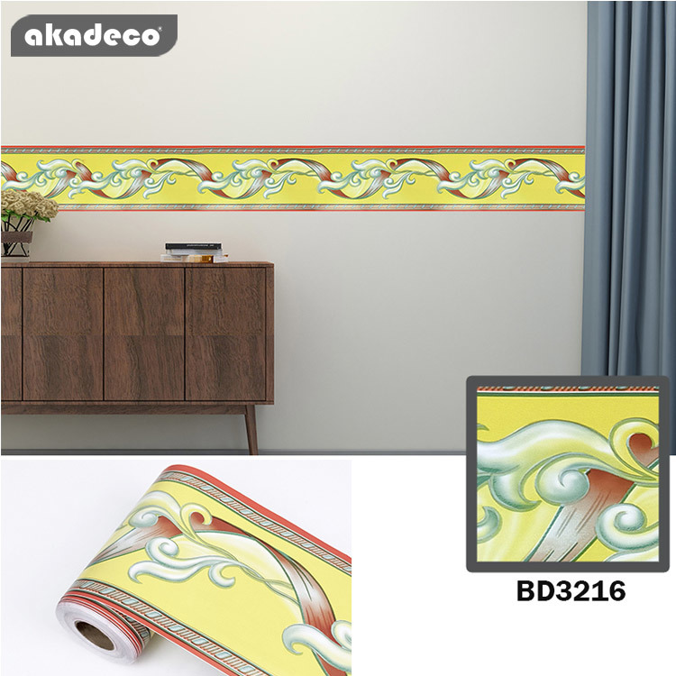 akadeco border sticker design 10cm*10m*0.08mm water proof moisture proof