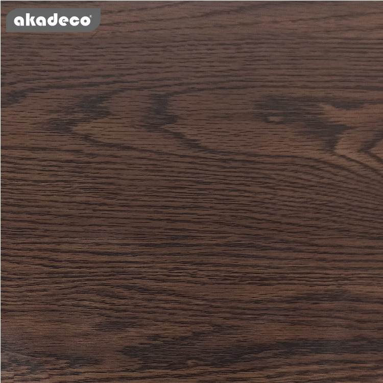 akadeco wood self adhesive for bedroom classic color water-proof PVC material
