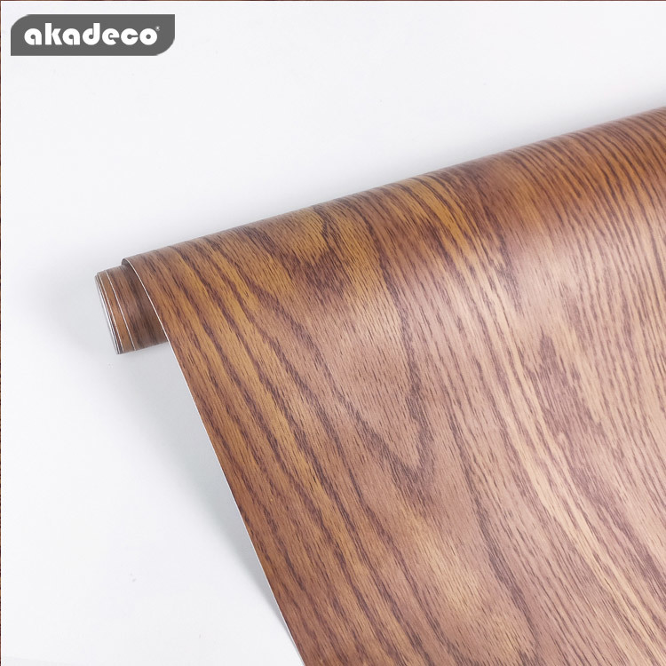 PVC wood effect contact paper for wall furniture hot selling anti-scrap
