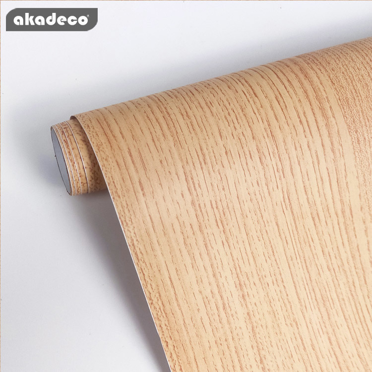 akadeco wood adhesive film table PVC self adhesive film moisture-proof
