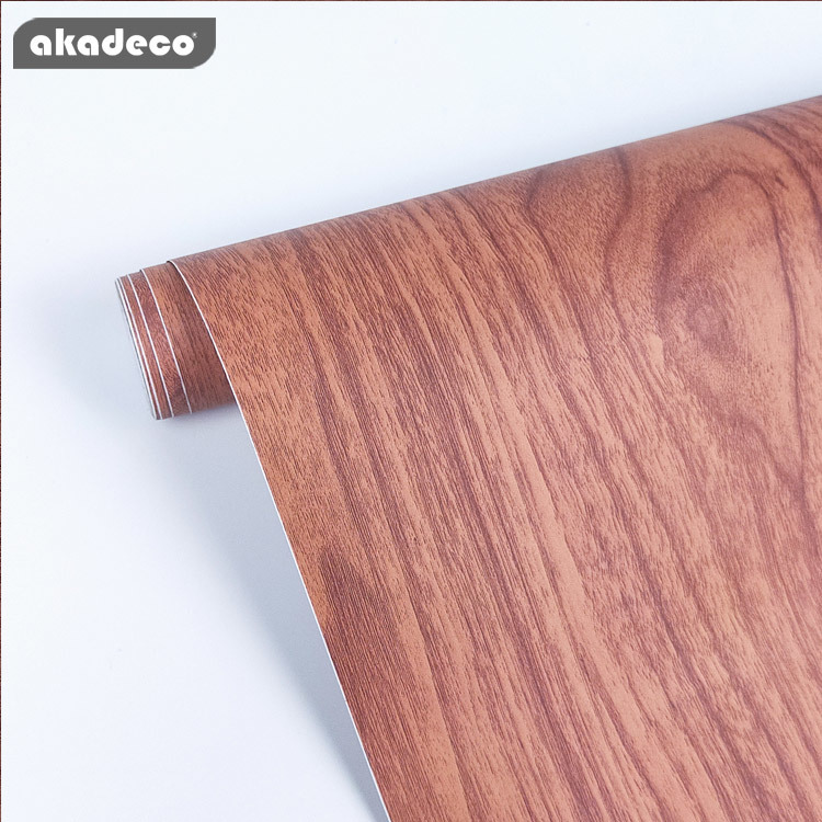 pvc wood grain paper for table peel and stick easy to use nature wood pattern