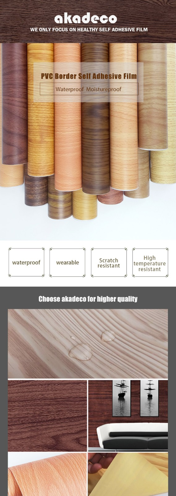 SUNYE new wood effect contact paper inquire now for secretary room-4