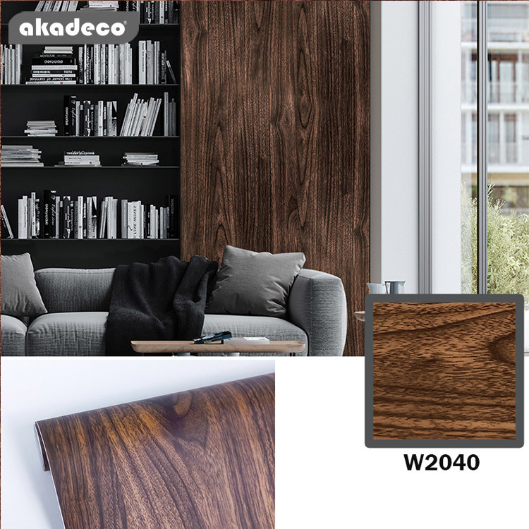 wallpaper peel and stick wood wall sticker classic color W2040