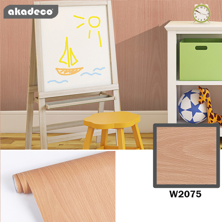 akadeco pvc wooden type wall stickers roll contact paper nature texture