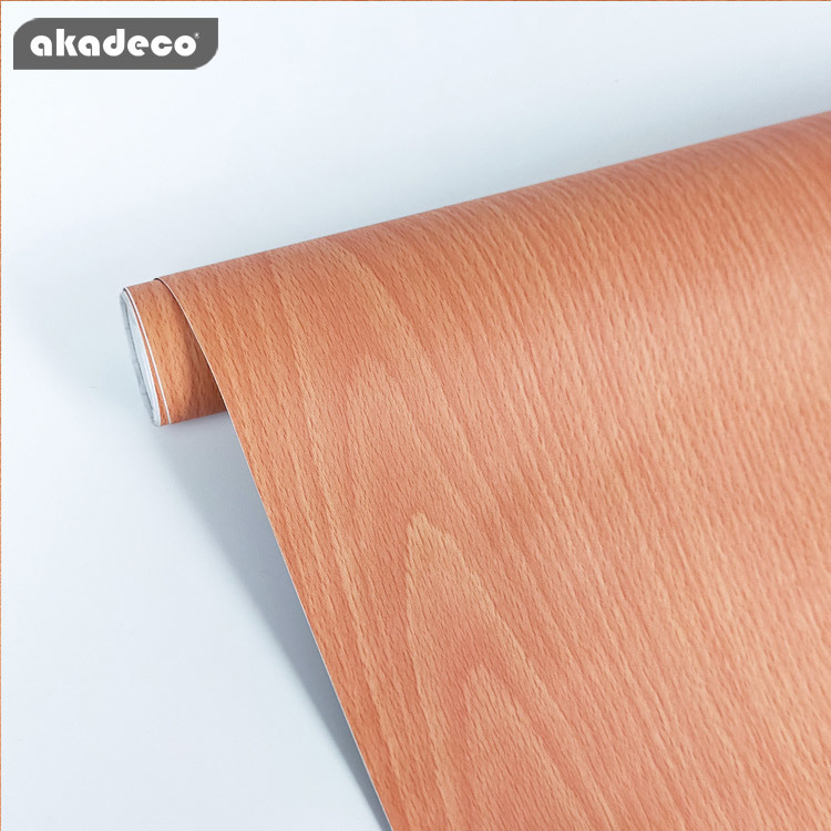 natural wood wall paper rolls bathroom wallpaper removable film for home W2076