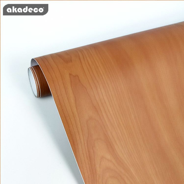 home decor wood grain self-adhesive PVC  waterproof beautiful striped wall paper