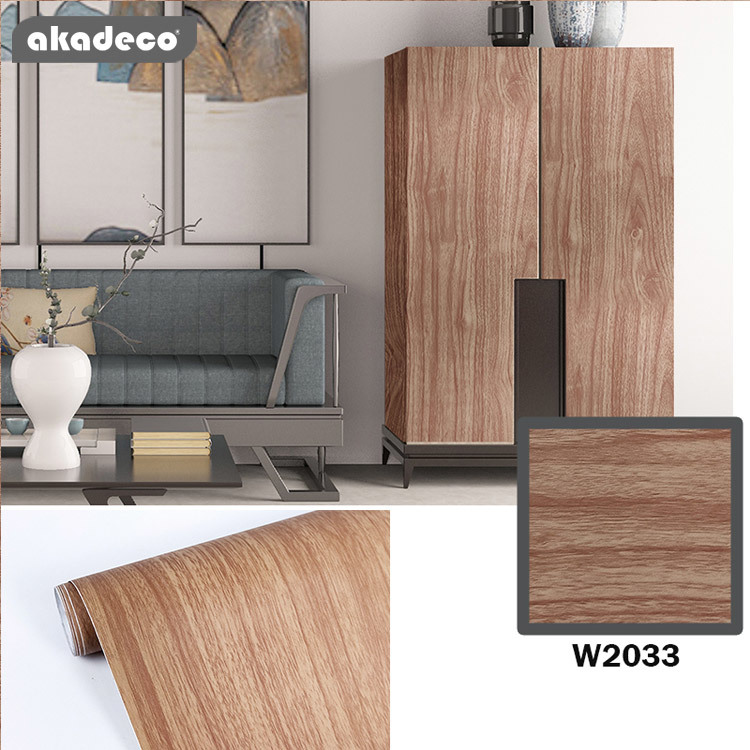 wall sticker design natural wood texture water-proof