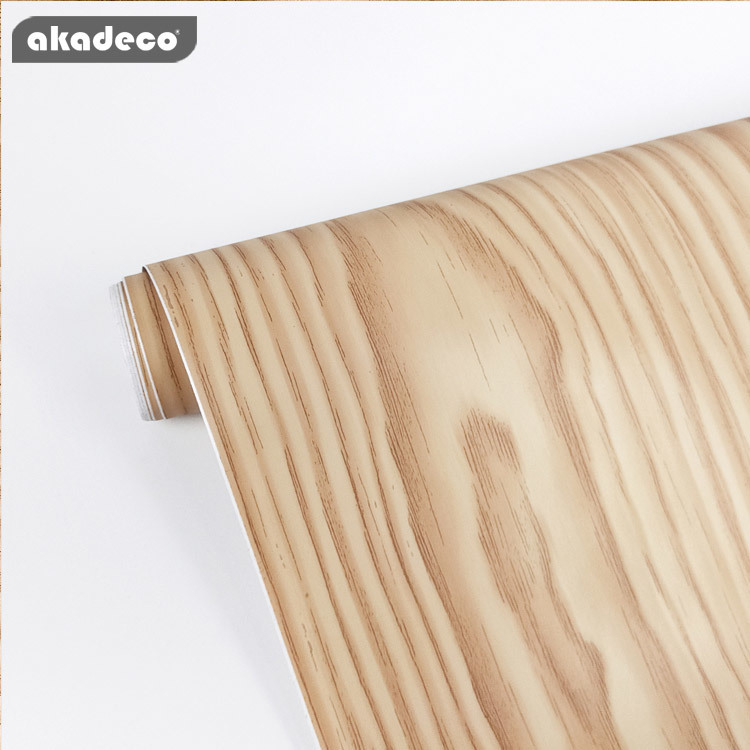 faux wood wall stickers pvc film water-proof scratch resistant