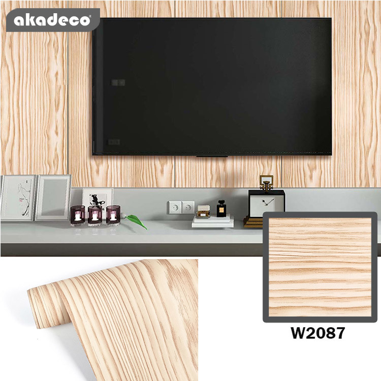 PVC wood wallpaper sticker the home décor moisture W2087