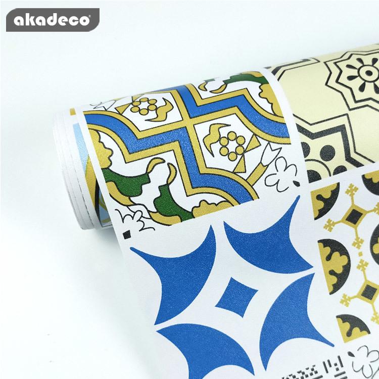 akadeco PVC self adhesive filmfor furniture popular bohemia design mildew proof
