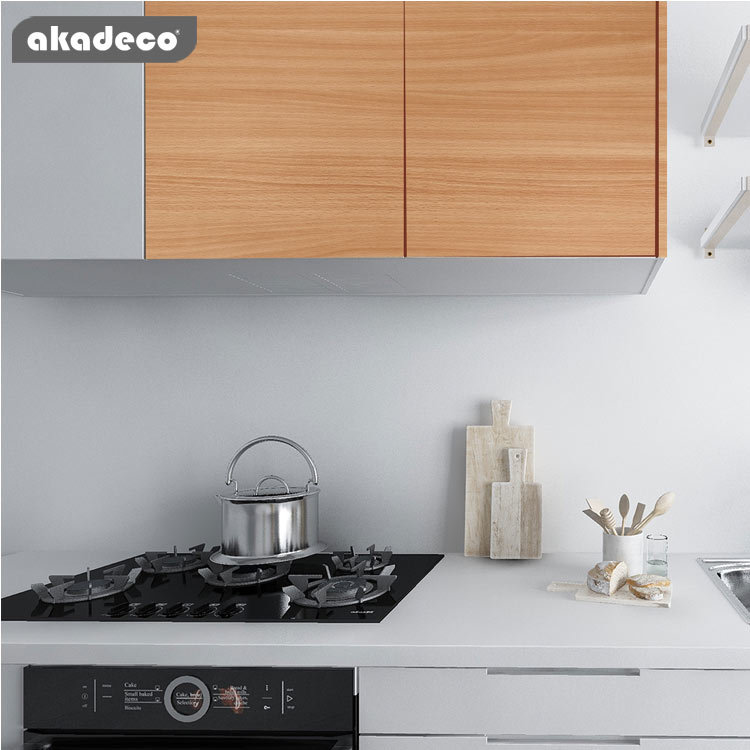 PVC akadeco wooden type wall stickers classic popular color scratch resistant