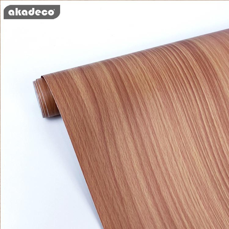 PVC self adhesive film faux wood wall stickers popular design