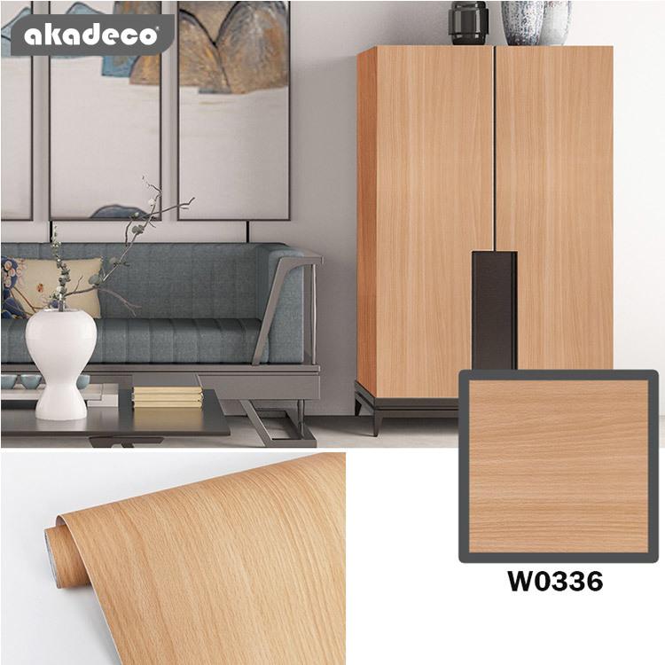 PVC wall sticker wood design wallpaper the home décor moisture W2087