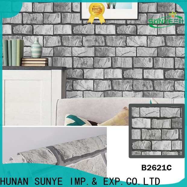 SUNYE durable anti bacterial wallpaper directly sale for utility room