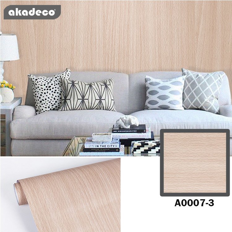 wall sticker wooden wallpaper design classic color A0007