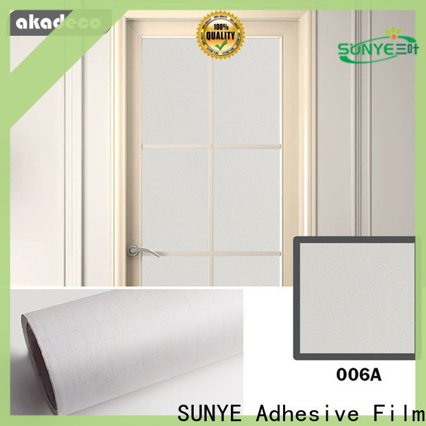 SUNYE self adhesive covering film supplier for hotel