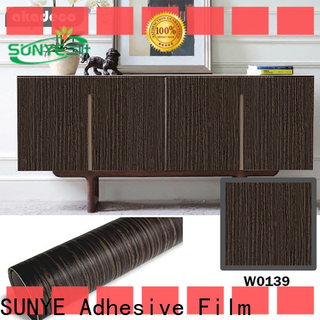 SUNYE reliable rustic wood vinyl wrap directly sale for switch room