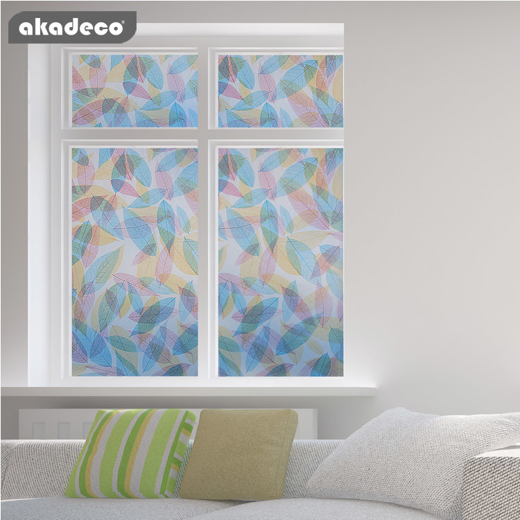 akadeco self adhesive decorative window film for office and home decoration