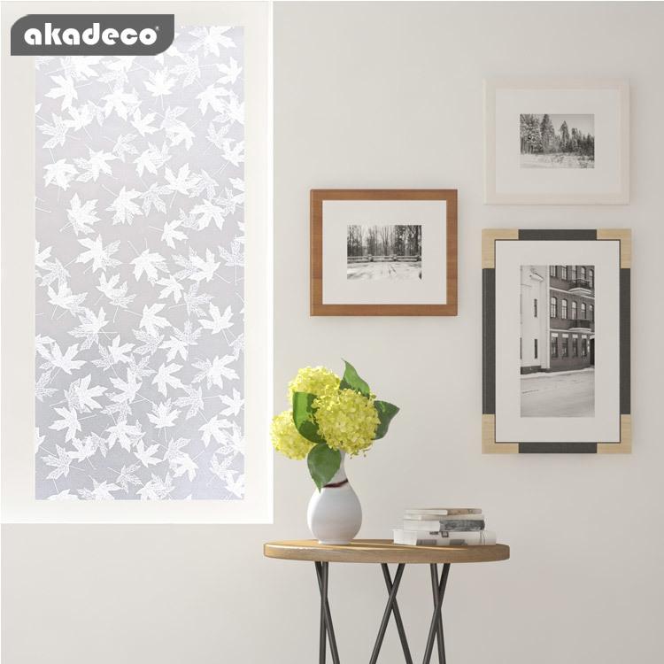 akadeco window film privacy stained glass window film for bathroom shower door