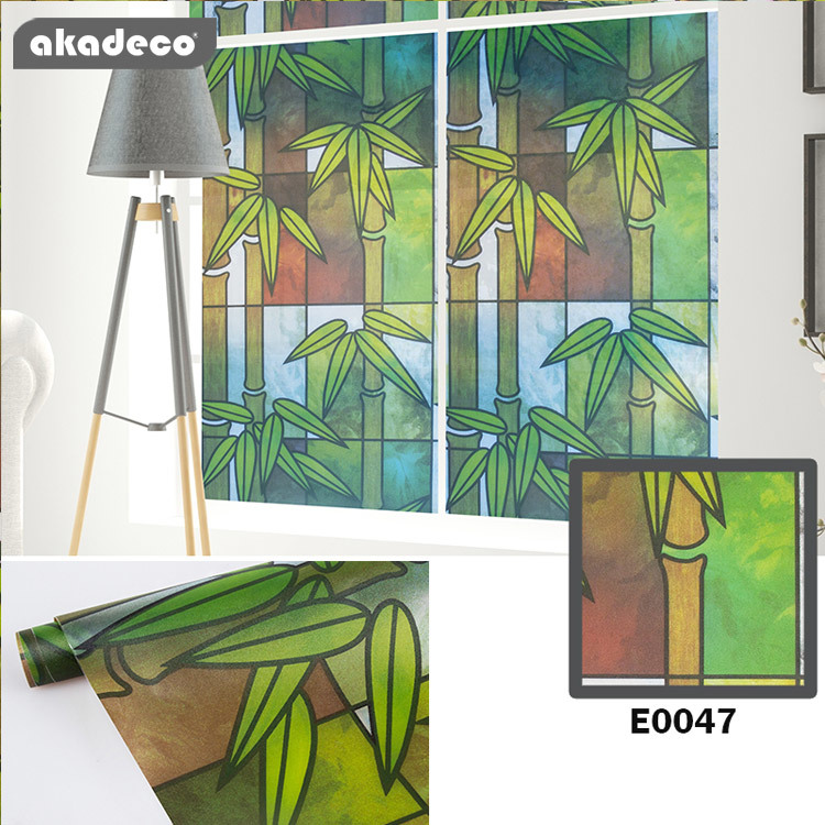 PVC window decorative film  for home and office decoration water-proof E0047