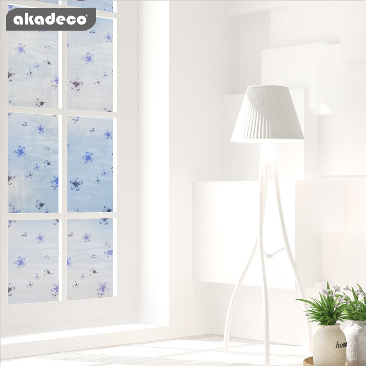 akadeco window flower film decorative for privacy protection