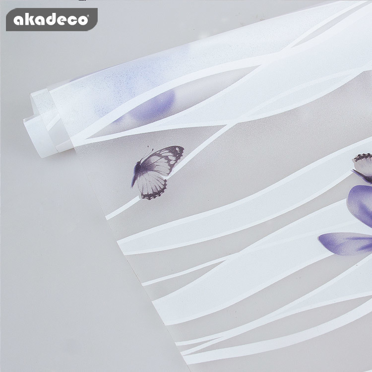 akadeco window flower film decorative for privacy protection