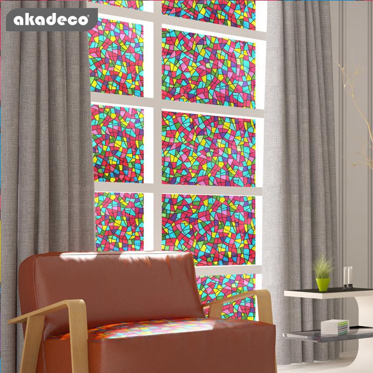 PVC glass film akadeco brand water-proof many new design