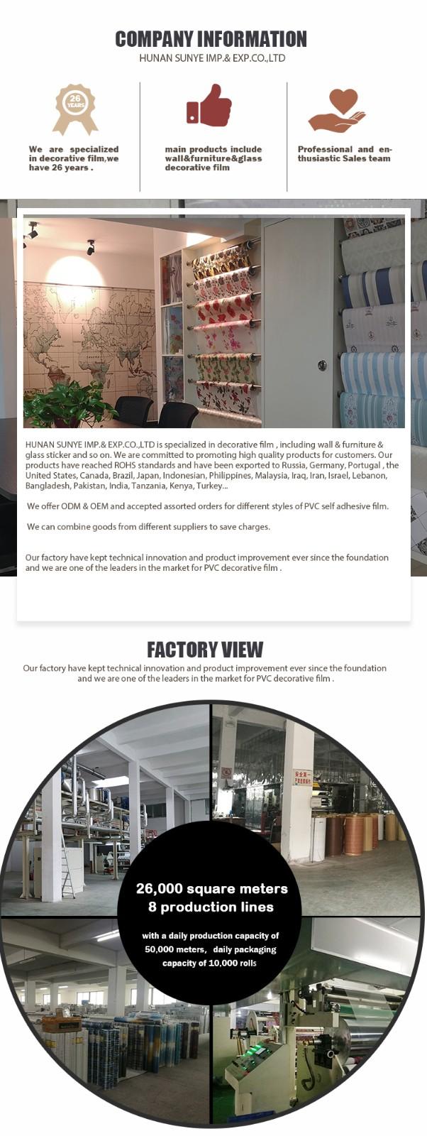 SUNYE worldwide self adhesive window protection film company for hall-7
